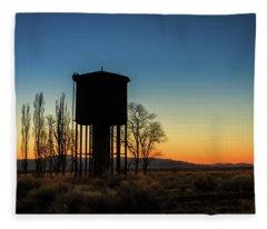 Blue Hour Water Tank Fleece Blanket