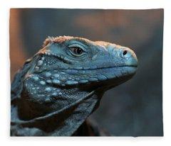 Blue Iguana Fleece Blanket