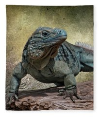 Blue Iguana Fleece Blanket