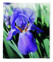 Blue Iris 2 Fleece Blanket
