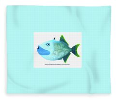 Blue Jaw Triggerfish Fleece Blanket