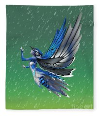 Blue Jay Fairy Fleece Blanket