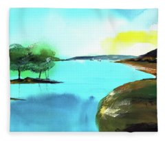 Blue Lake Fleece Blanket