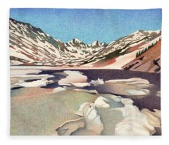 Blue Lakes Colorado Fleece Blanket