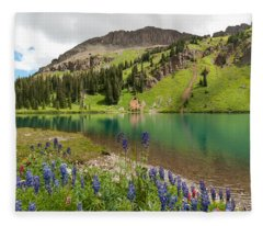 Blue Lakes Summer Splendor Fleece Blanket