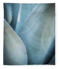 Blue Leaves Fleece Blanket