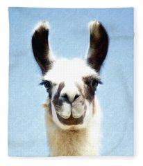 Blue Llama Fleece Blanket
