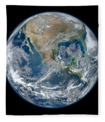 Blue Marble 2012 Planet Earth Fleece Blanket