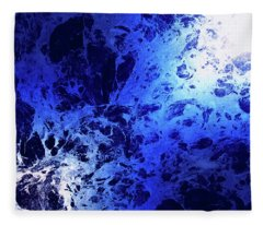 Blue Marble Dream Abstract Fleece Blanket
