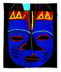 Blue Mask Fleece Blanket