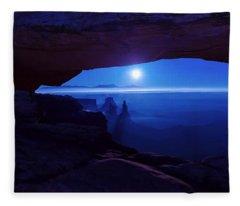 Blue Mesa Arch Fleece Blanket