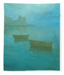 Blue Mist At Erbalunga Fleece Blanket