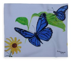 Blue Monarch Fleece Blanket
