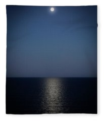 Blue Moonrise Fleece Blanket