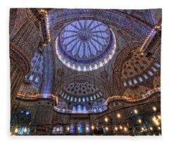 Blue Mosque Fleece Blanket