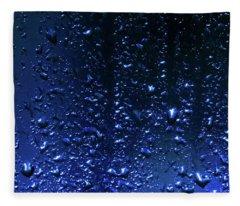Blue Night Rain Fleece Blanket