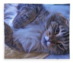 Blue Oblivion Fleece Blanket
