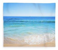 Blue Ocean Horizon Fleece Blanket