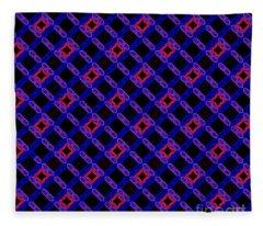 Blue Overlay Fleece Blanket