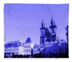 Blue Praha Fleece Blanket