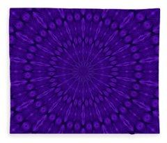 Blue Purple Ultraviolet Solar Spirit Fleece Blanket