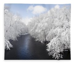 Blue Ribbon River Fleece Blanket
