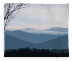 Blue Ridge Above The Clouds Fleece Blanket
