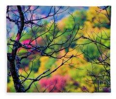 Blue Ridge Autumn Fleece Blanket