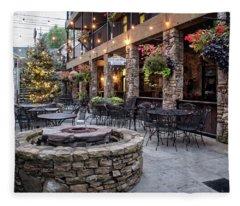 Blue Ridge Courtyard Fleece Blanket