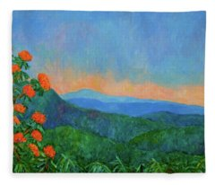 Blue Ridge Morning Fleece Blanket