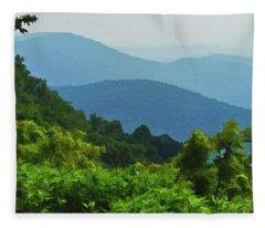 Blue Ridge Mountain Layers Fleece Blanket