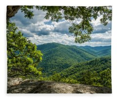 Blue Ridge Mountain View Fleece Blanket