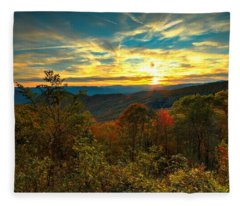 Blue Ridge Sunsets Fleece Blanket