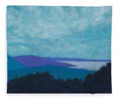Blue Ridges 3 Fleece Blanket