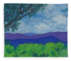 Blue Ridges 4 Fleece Blanket