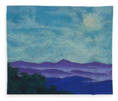Blue Ridges Mist 1 Fleece Blanket