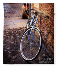 Blue Rome Bicycle Fleece Blanket