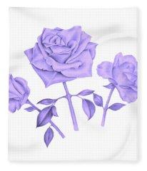 Blue Rose Fleece Blanket