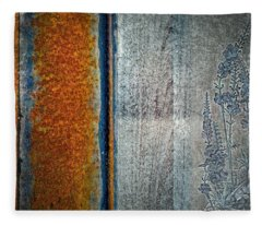 Blue Rust Fleece Blanket