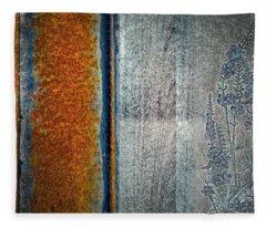 Blue Rust Fleece Blanket
