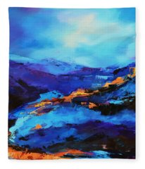 Blue Shades Fleece Blanket