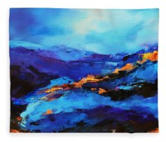 Blue Shades Fleece Blanket
