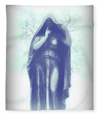 Blue Shield Of Immortality Fleece Blanket