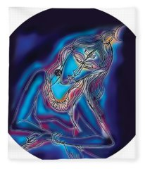 Blue Shiva Light Fleece Blanket