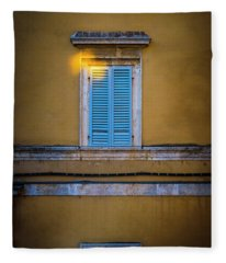 Blue Shutters Of Todi Fleece Blanket