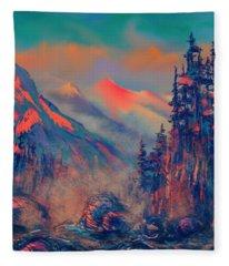 Blue Silence Fleece Blanket