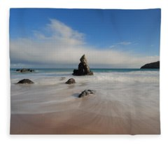 Blue Skies Above Sango Bay Fleece Blanket