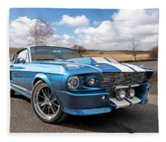 Blue Skies Cruising - 1967 Eleanor Mustang Fleece Blanket