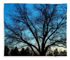 Blue Sky At Night Fleece Blanket