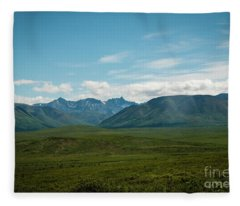 Blue Sky Mountians Fleece Blanket